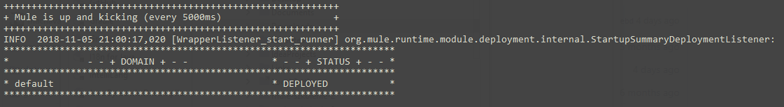Mule run status