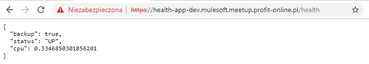 Endpoint call to Mule application