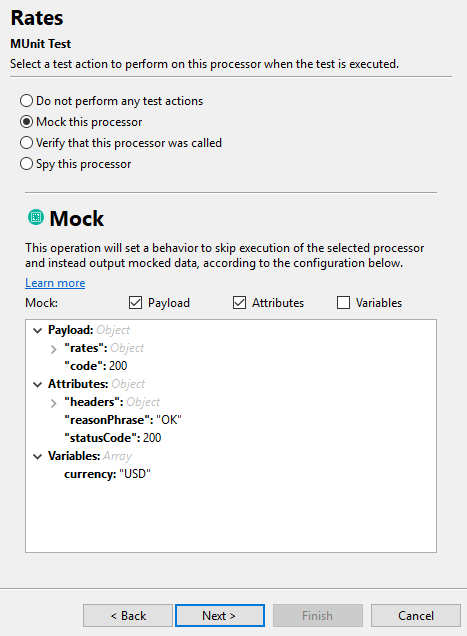 Mock executed event processors