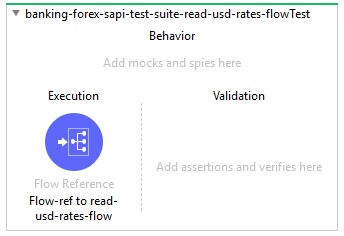 Empty Test scope generated for selected flow