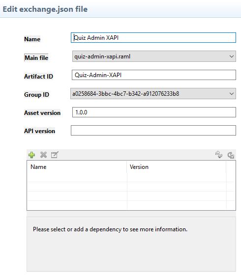 Manage your API via exchange.json file