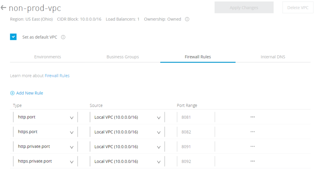 VPC firewall rules allowing only local VPC traffic